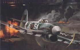 Hawker Typhoon attaquant un train